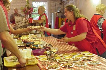 Serving in Kitchen